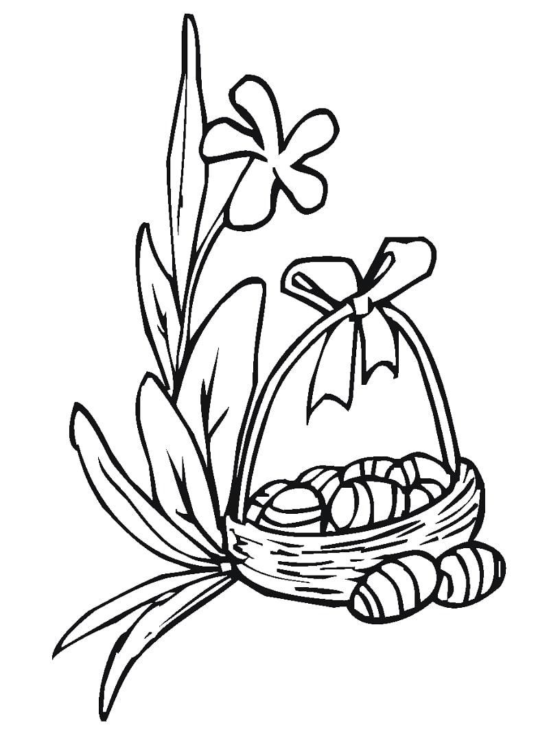Desenhos de Lírio de Páscoa para colorir