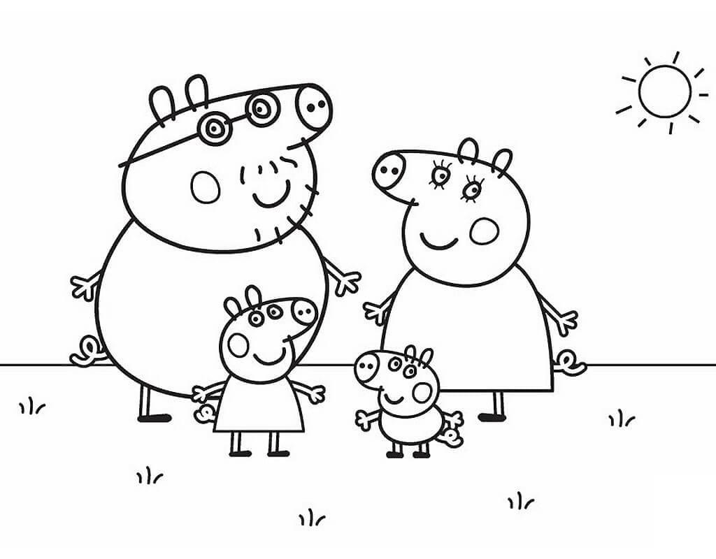 Desenhos de Peppa Pig para Colorir