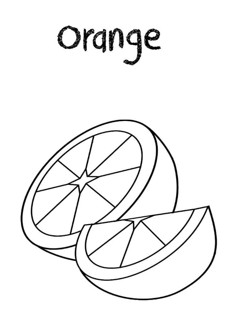 Desenhos de Fatias de Laranja para colorir