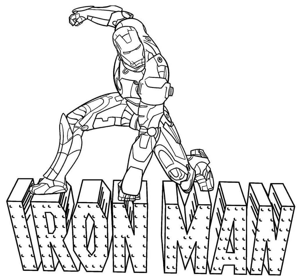 Desenhos de Homem de Ferro para Colorir