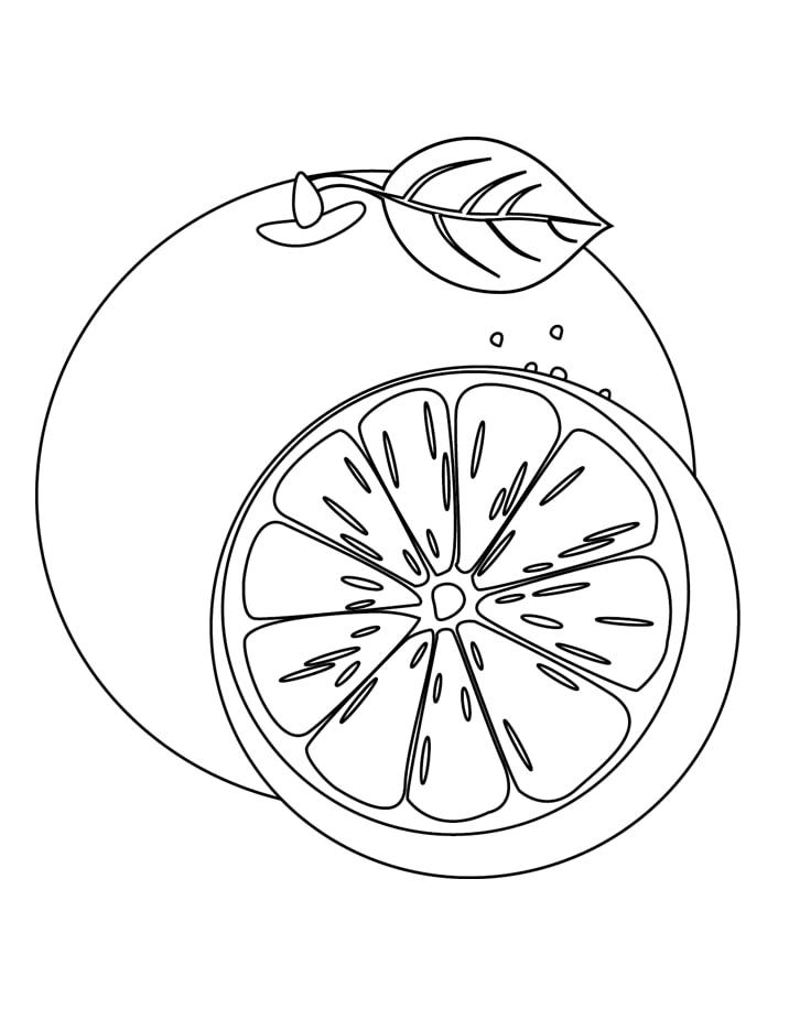 Desenhos de Laranja e Meia para colorir