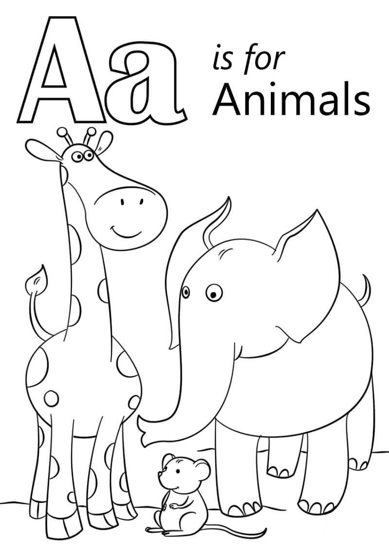 Desenhos de Letra A 1 para colorir