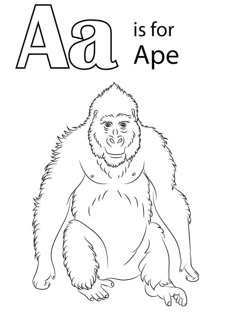 Desenhos de Letra A 13 para colorir