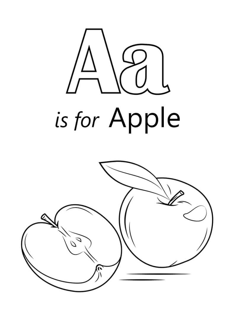 Desenhos de Letra A 14 para colorir