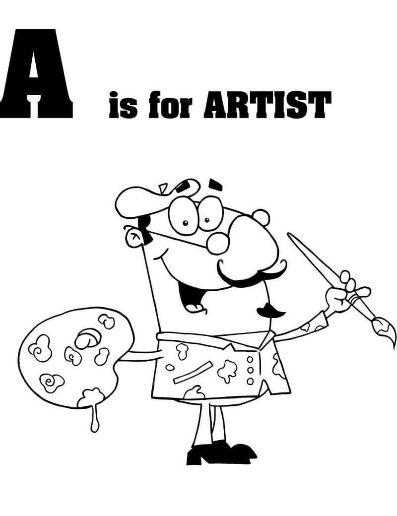 Desenhos de Letra A 15 para colorir