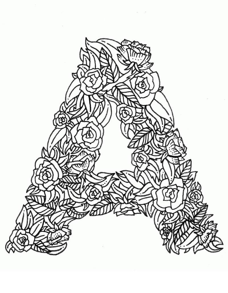 Desenhos de Letra A 16 para colorir