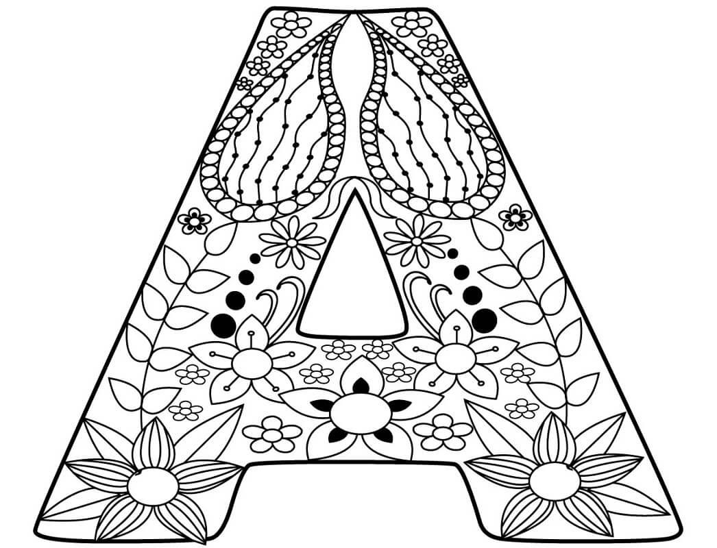 Desenhos de Letra A 17 para colorir