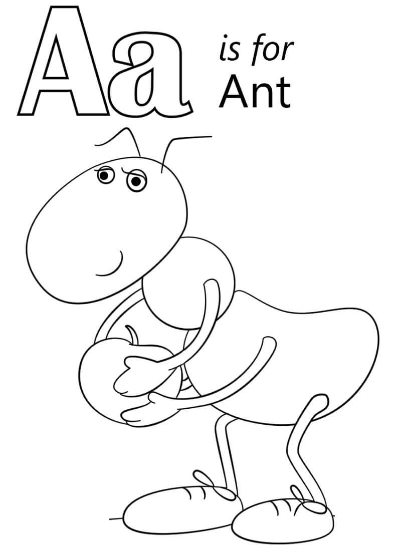 Desenhos de Letra A 2 para colorir