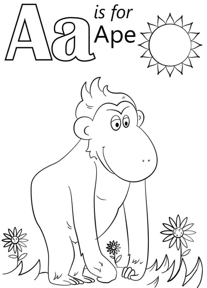 Desenhos de Letra A 3 para colorir