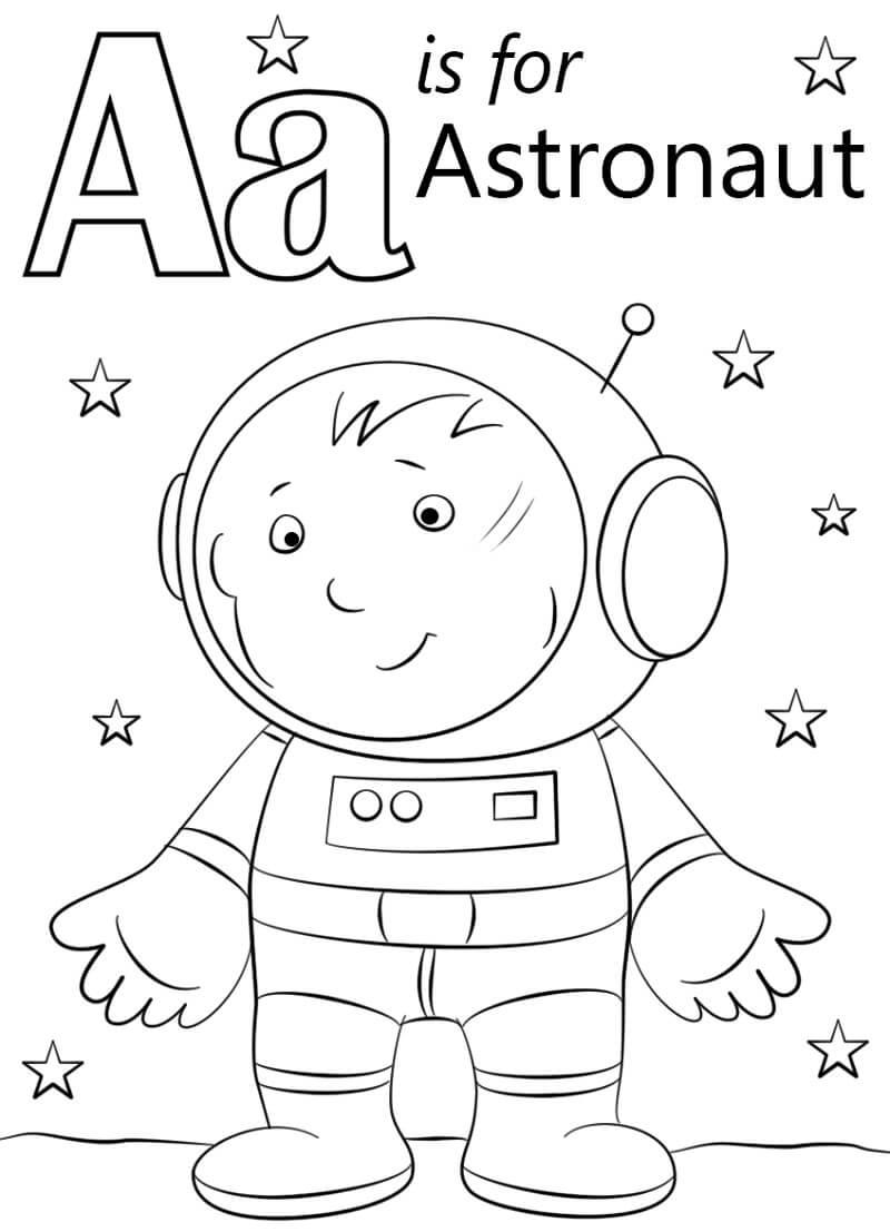 Desenhos de Letra A 4 para colorir
