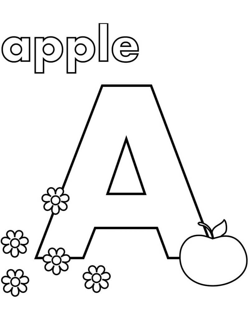 Desenhos de Letra A 5 para colorir