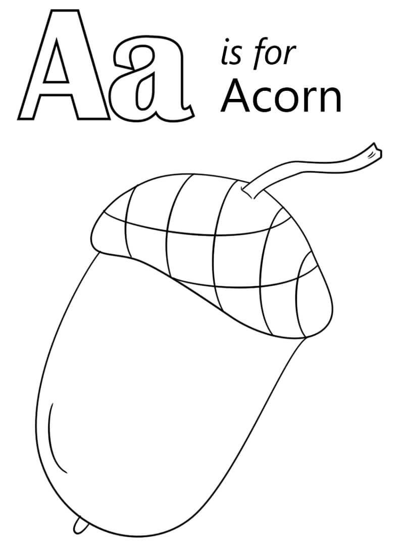 Desenhos de Letra A 6 para colorir