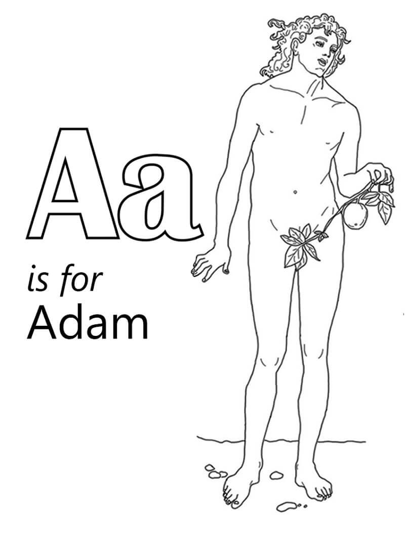 Desenhos de Letra A 7 para colorir