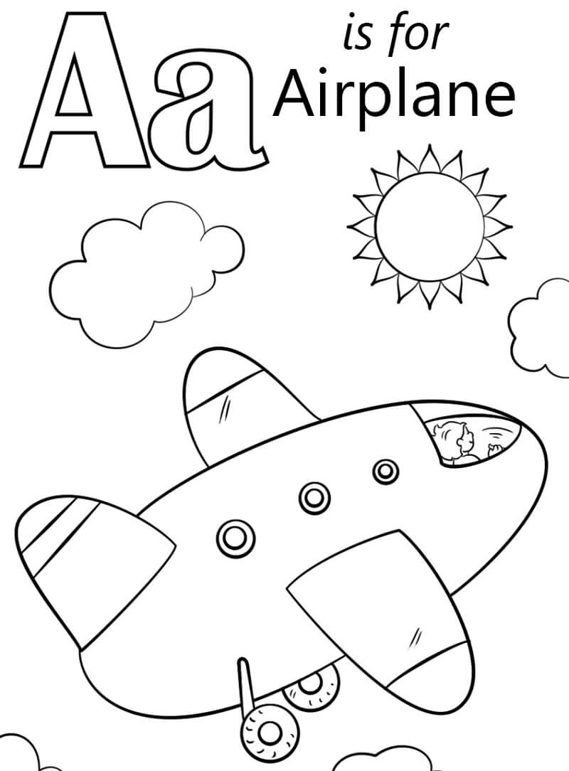 Desenhos de Letra A 9 para colorir