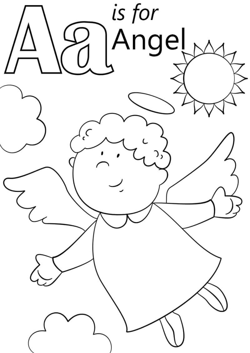 Desenhos de Letra A para colorir
