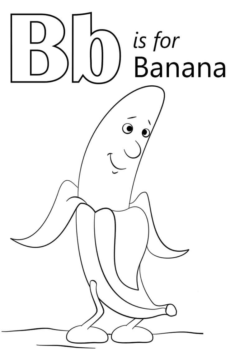 Desenhos de Letra B 1 para colorir