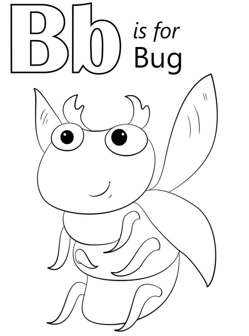 Desenhos de Letra B 10 para colorir