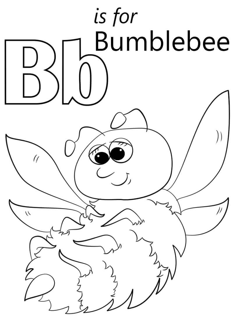Desenhos de Letra B 11 para colorir
