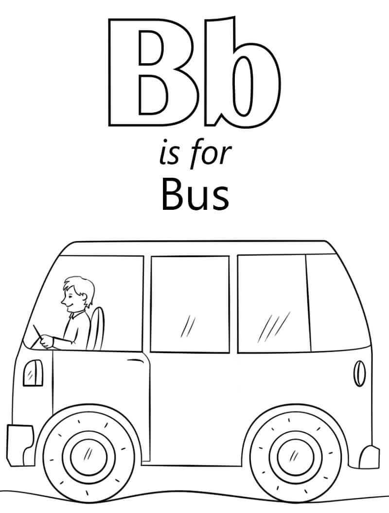 Desenhos de Letra B 13 para colorir