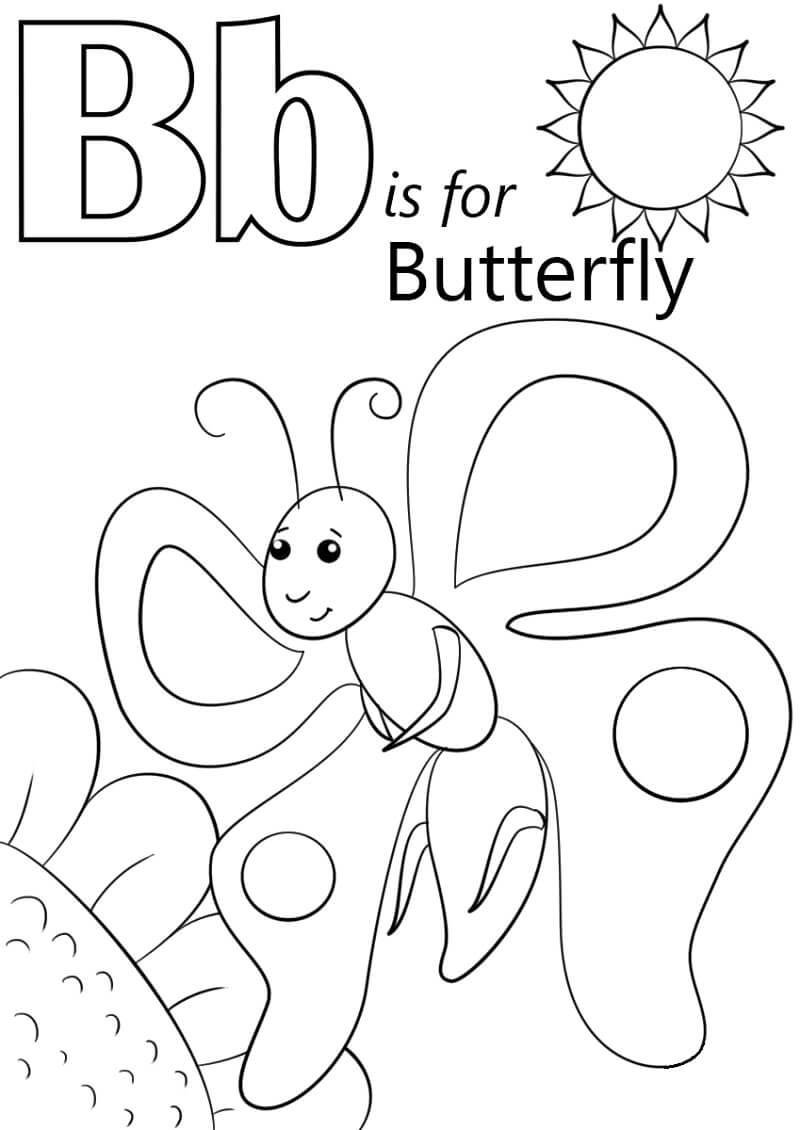Desenhos de Letra B 14 para colorir