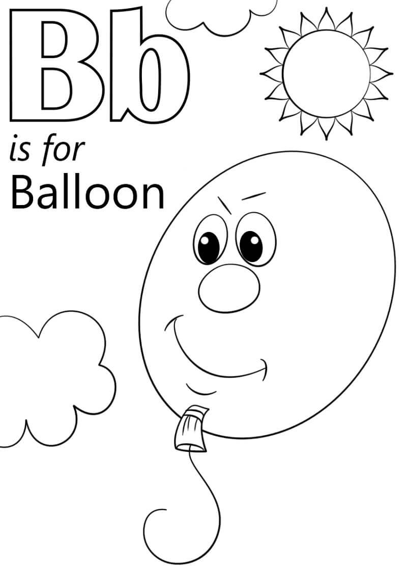 Desenhos de Letra B 15 para colorir