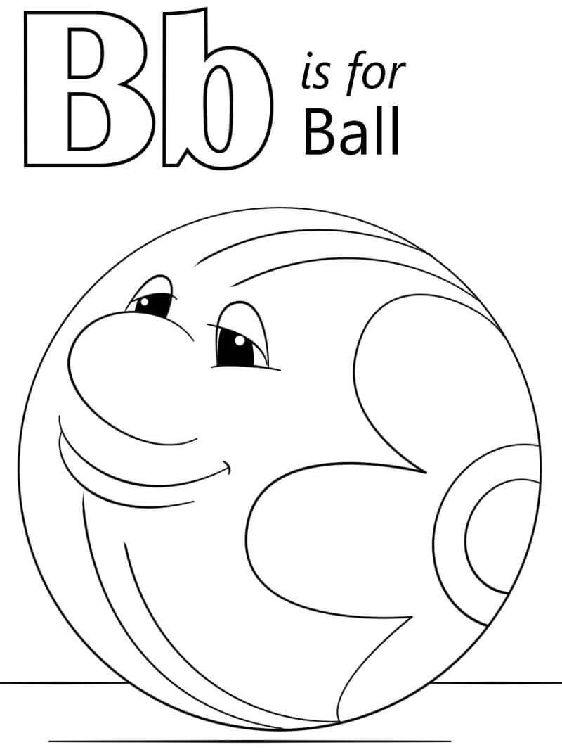 Desenhos de Letra B 18 para colorir