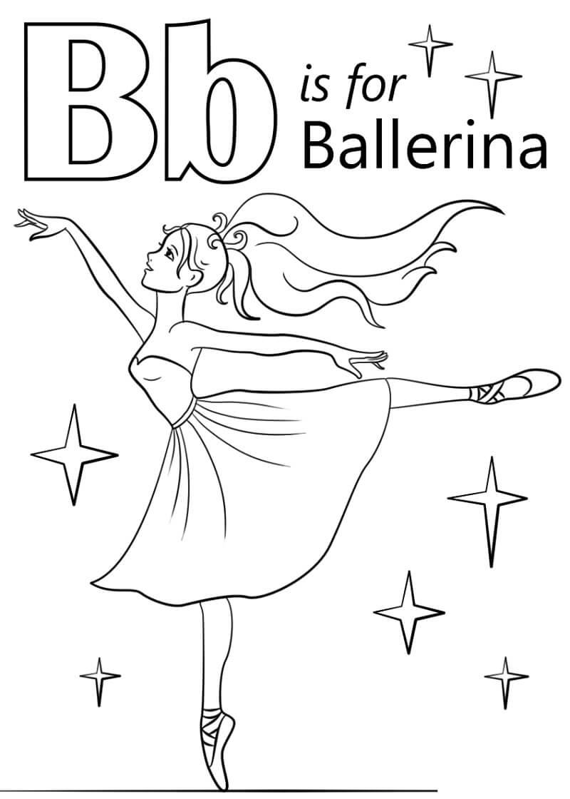 Desenhos de Letra B 19 para colorir