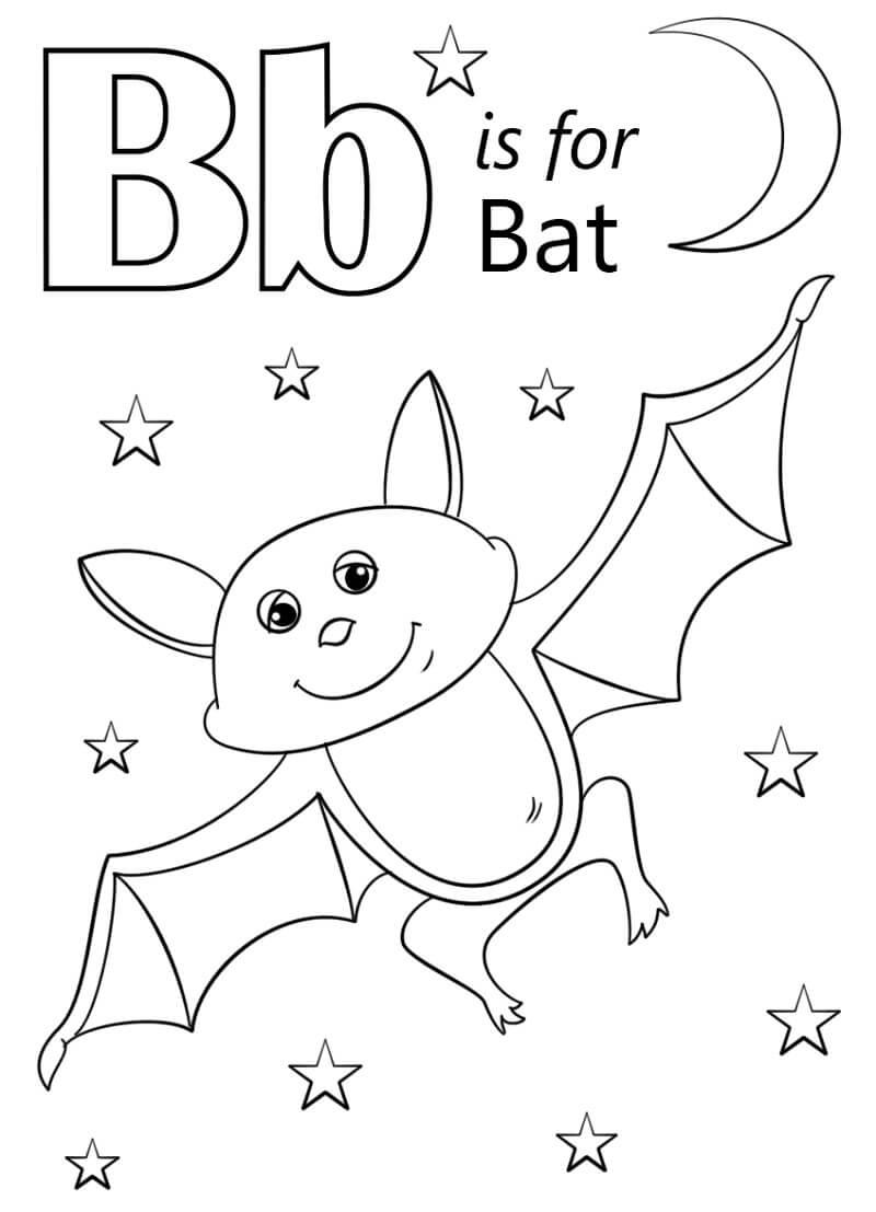 Desenhos de Letra B 2 para colorir
