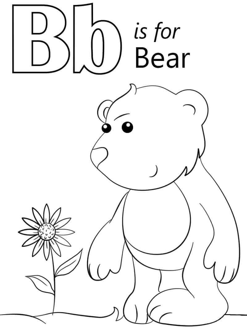 Desenhos de Letra B 3 para colorir
