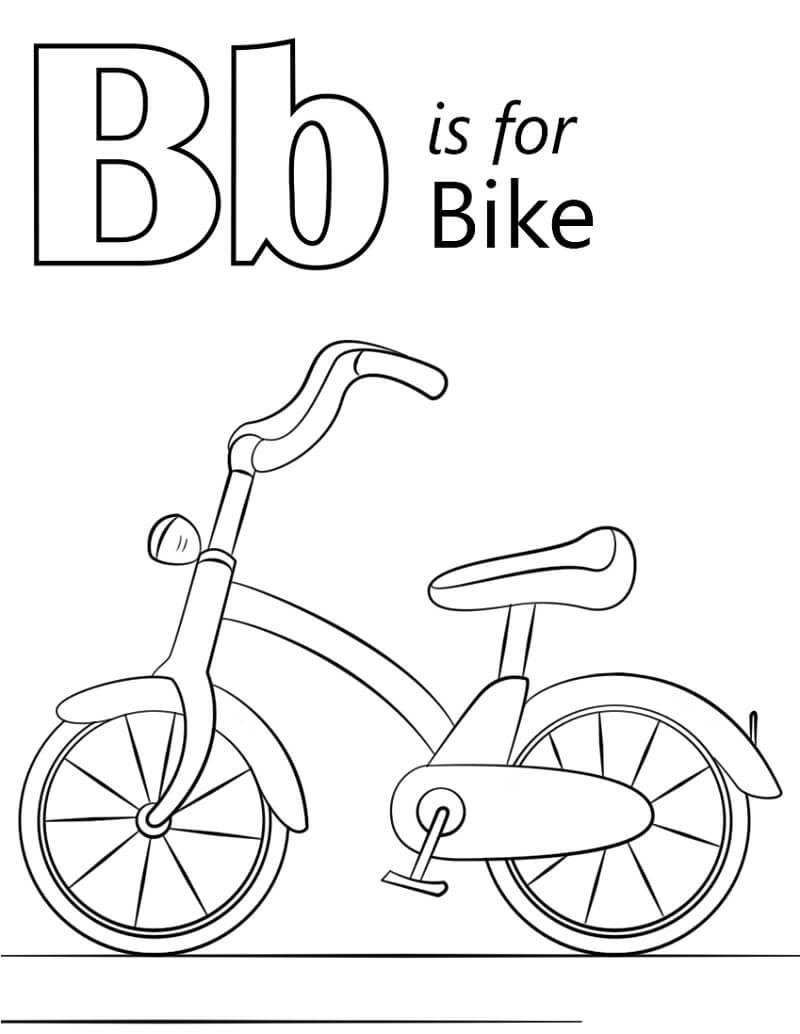 Desenhos de Letra B 6 para colorir
