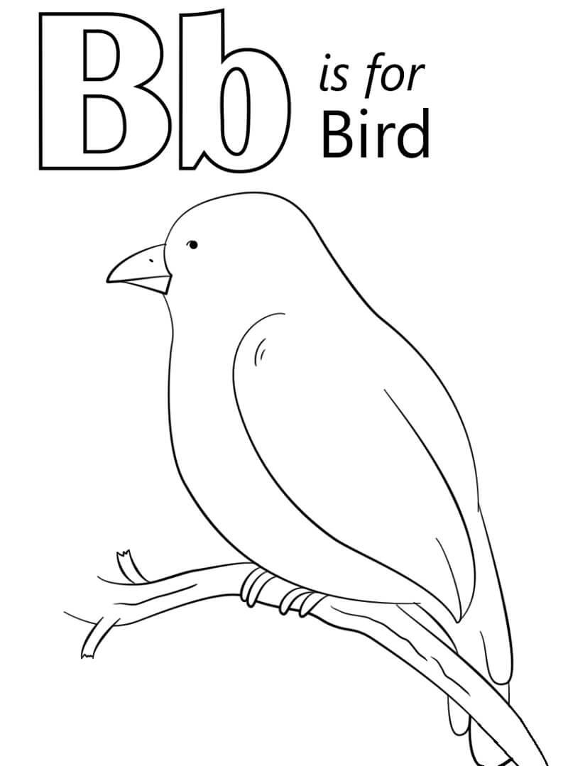 Desenhos de Letra B 7 para colorir
