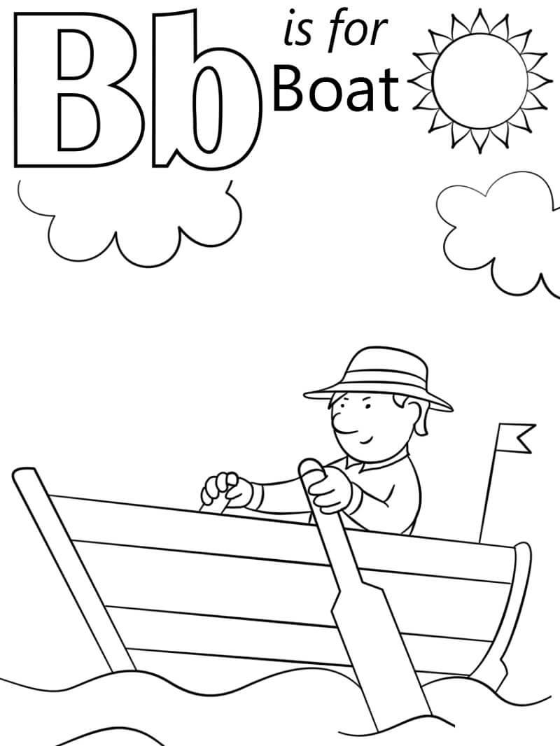 Desenhos de Letra B 8 para colorir