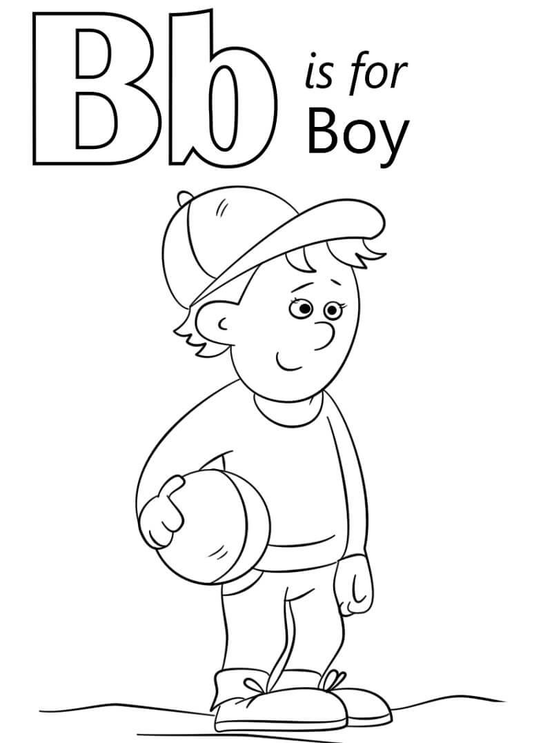 Desenhos de Letra B 9 para colorir