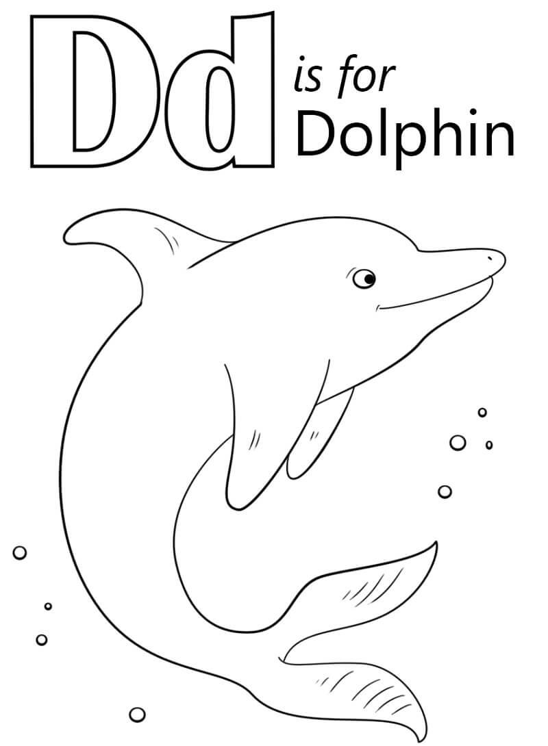 Desenhos de Letra D 1 para colorir