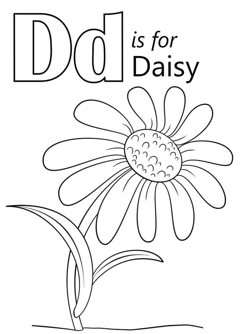 Desenhos de Letra D 13 para colorir