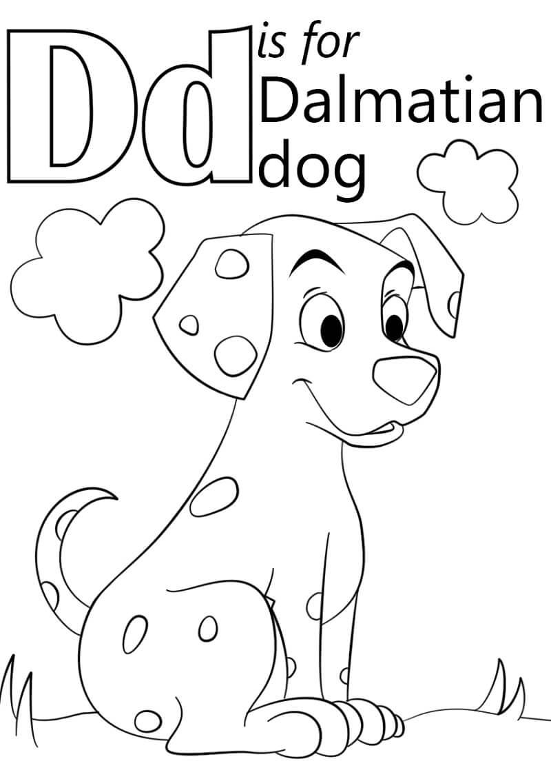Desenhos de Letra D 14 para colorir
