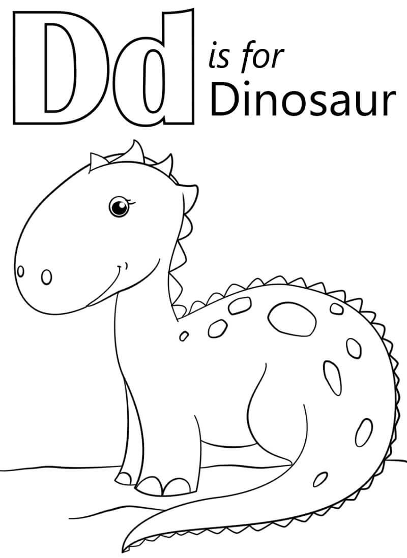 Desenhos de Letra D 17 para colorir