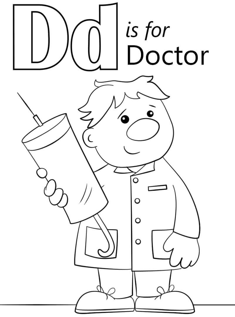 Desenhos de Letra D 18 para colorir