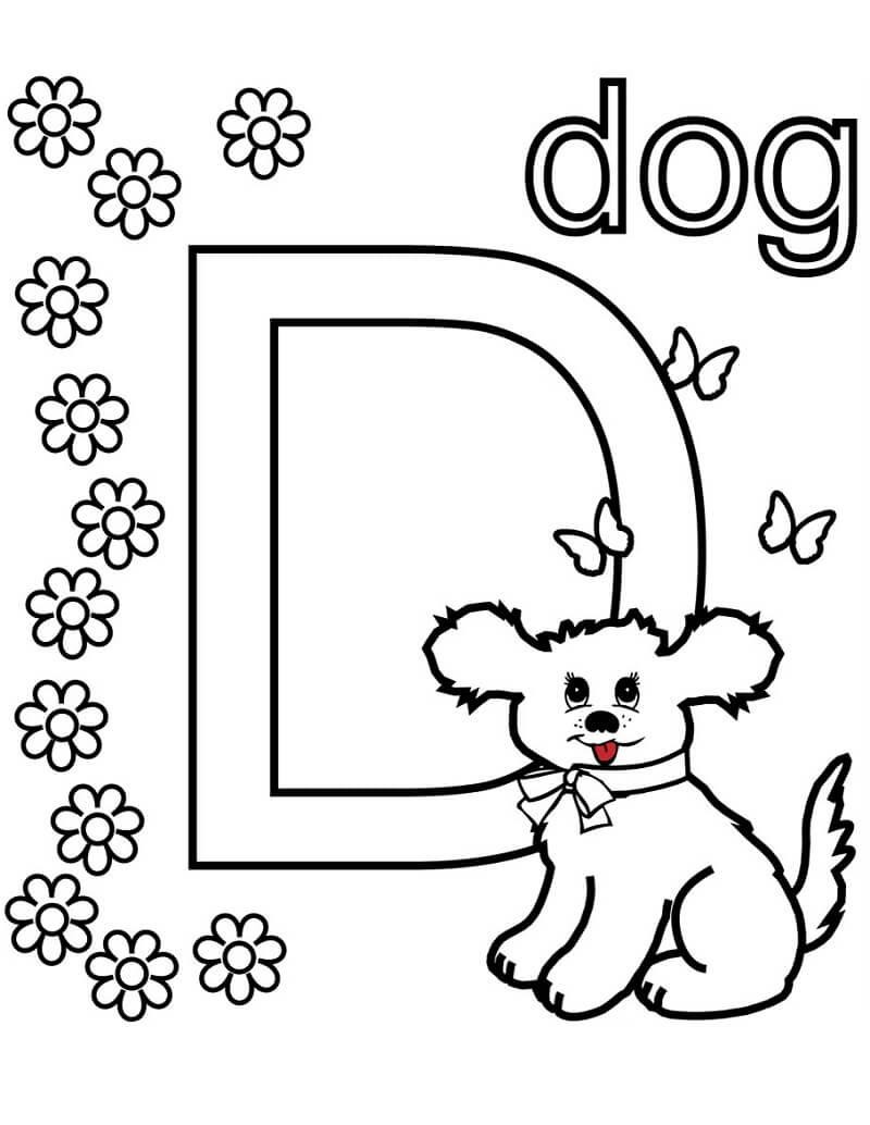 Desenhos de Letra D 19 para colorir