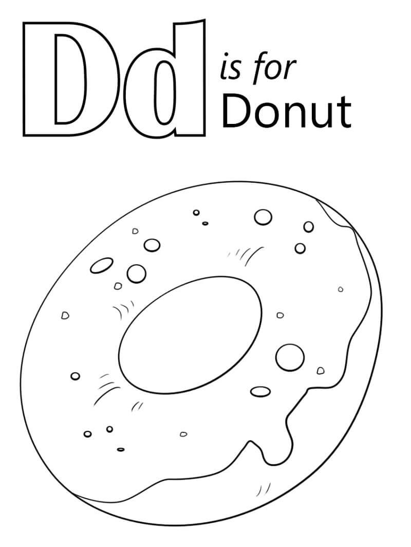 Desenhos de Letra D 3 para colorir