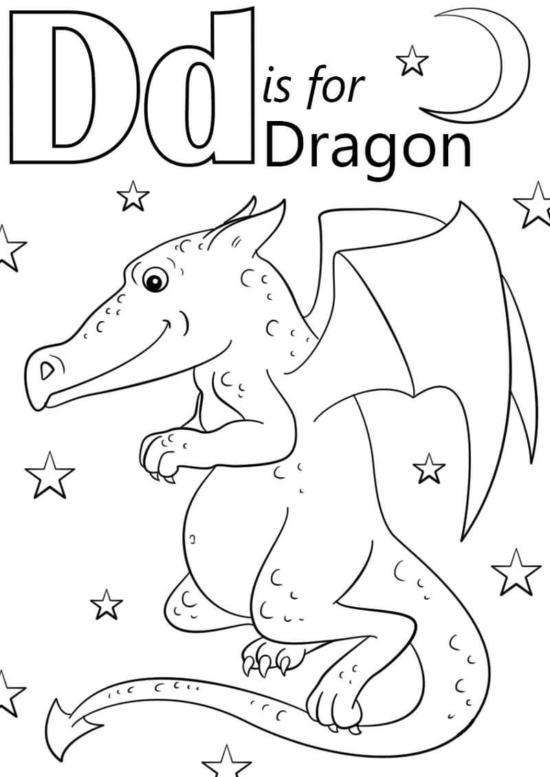 Desenhos de Letra D 4 para colorir