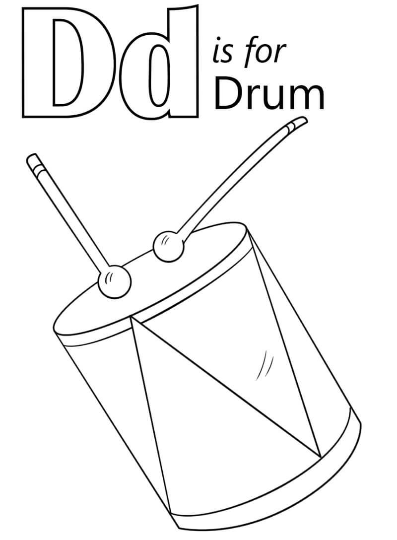 Desenhos de Letra D 5 para colorir