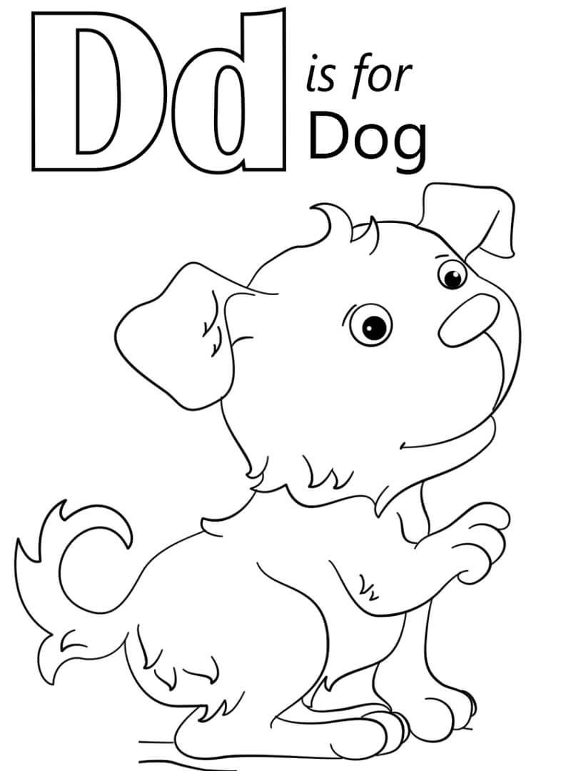 Desenhos de Letra D para colorir