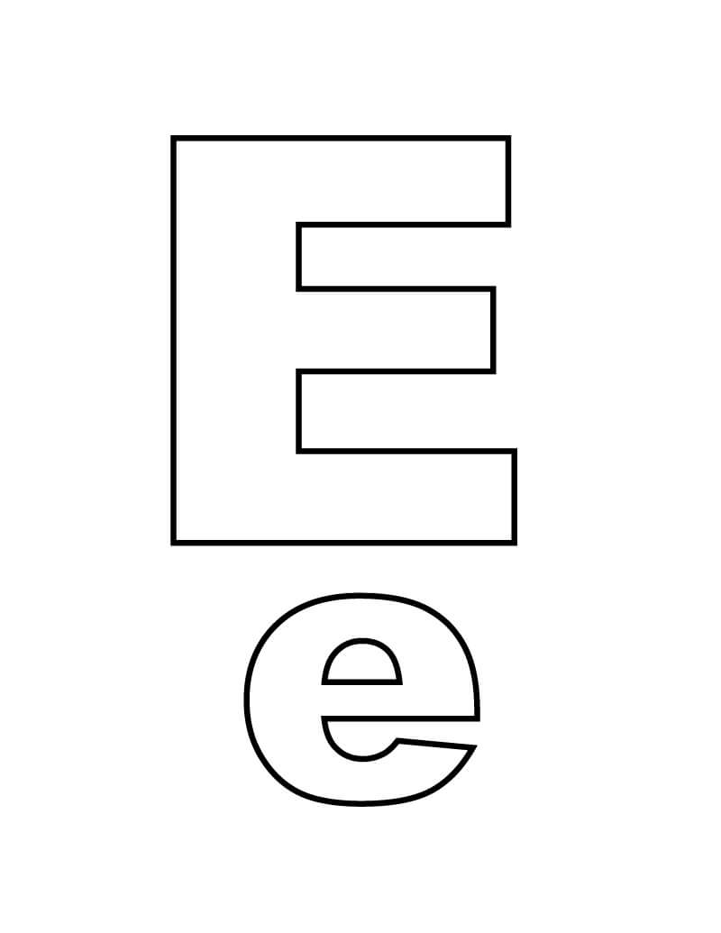 Desenhos de Letra E 10 para colorir