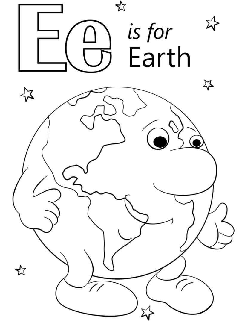 Desenhos de Letra E 13 para colorir