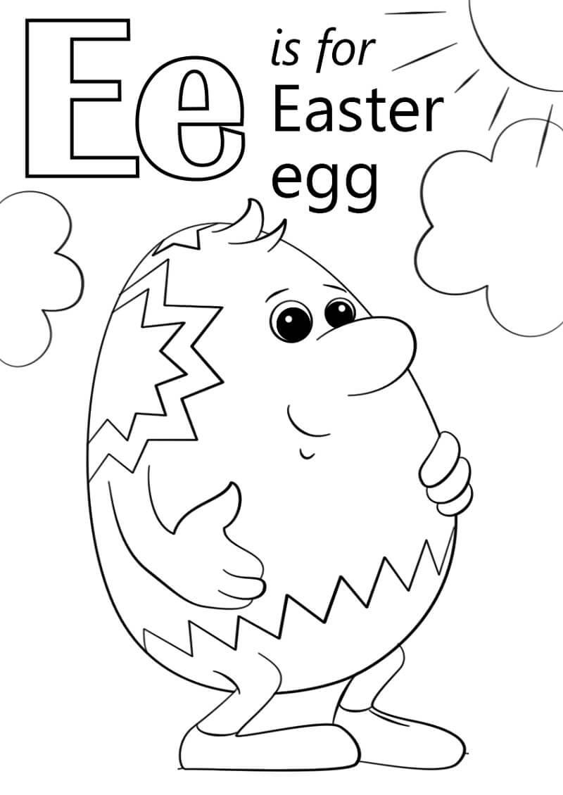 Desenhos de Letra E 14 para colorir