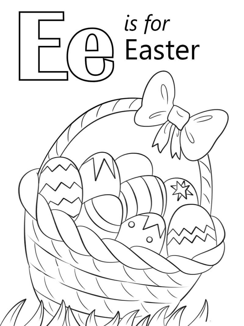 Desenhos de Letra E 15 para colorir