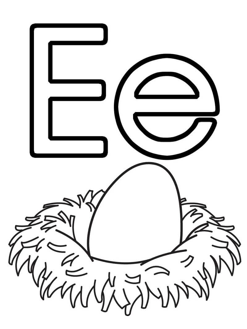 Desenhos de Letra E 16 para colorir