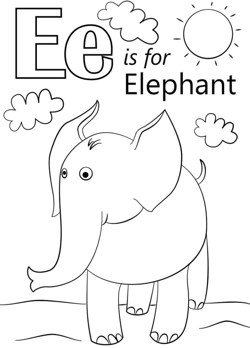 Desenhos de Letra E 17 para colorir