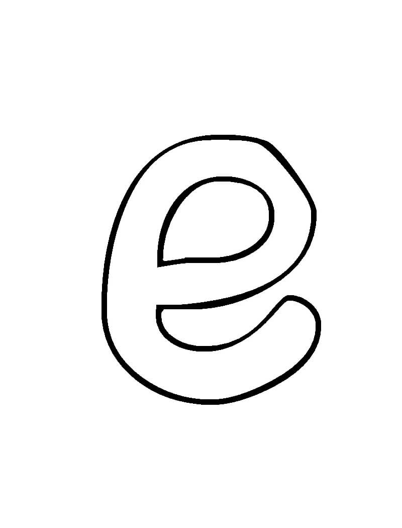Desenhos de Letra E 19 para colorir
